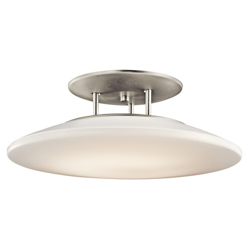 Kichler Ara 1 Light Semi Flush Mount
