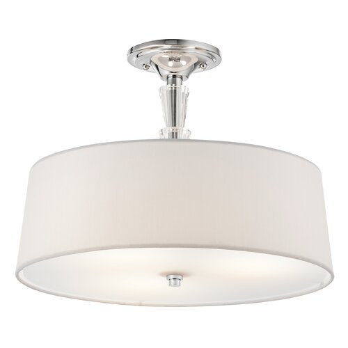 Kichler Crystal Persuasion 3 Light Semi Flush Mount