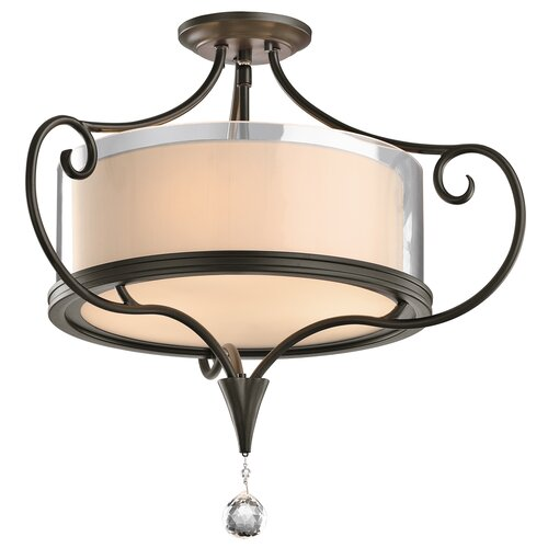 Kichler Laurel 2 Light Semi Flush Mount