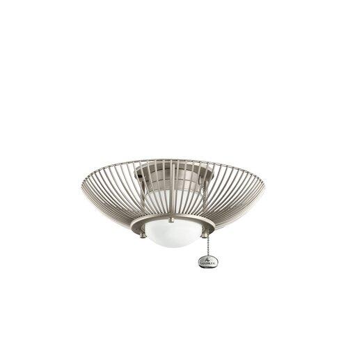 Kichler One Light Decorative Swirl Ceiling Fan Light Kit