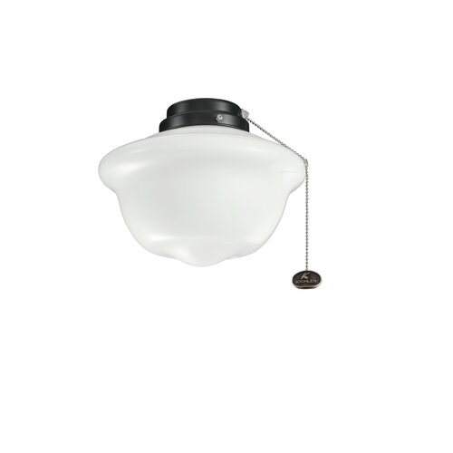 Kichler One Light School House Outdoor Ceiling Fan Light Kit