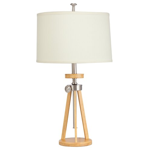 "Kichler Trivet Adjustable 37"" H Table Lamp with Drum Shade"