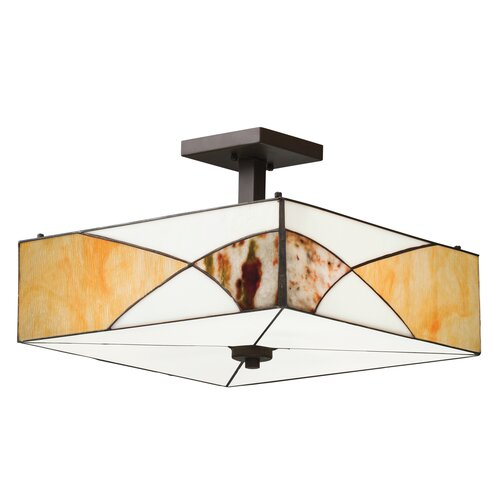 Kichler Elias 3 Light Semi Flush Pendant