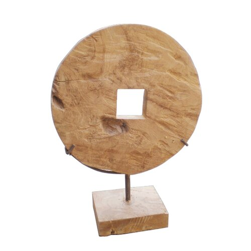 Natura Coin Recycled Teak Decor