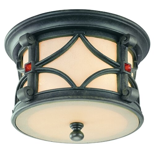 Troy Lighting Woodridge 2 Light Flush Mount
