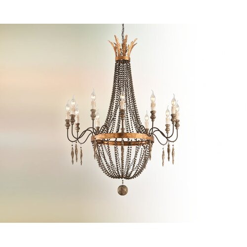 Troy Lighting Delacroix 12 Light Chandelier