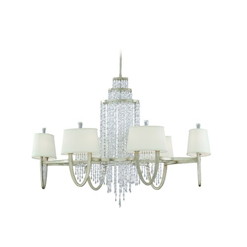 Corbett Lighting Viceroy Silver Leaf Chandelier