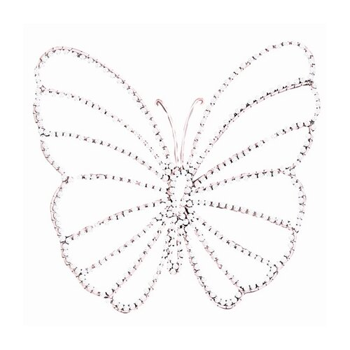 Jubilee Collection Small Wire Beaded Butterfly Wall Décor