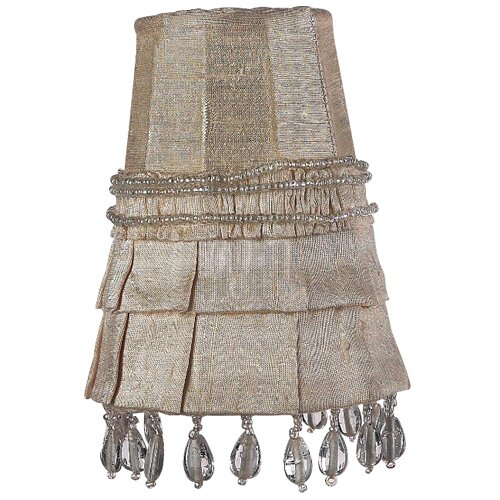 "Jubilee Collection 3.25"" Dupioni Silk Wall Sconce Shade"