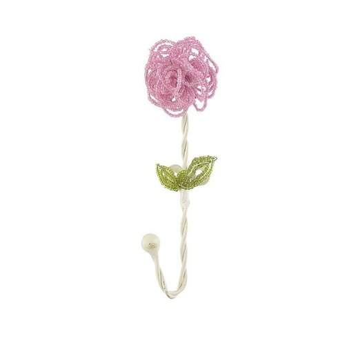 Jubilee Collection Beaded Flower Clothes Hook