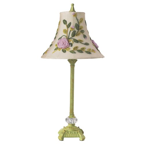 Jubilee Collection Scroll Glass Ball Table Lamp