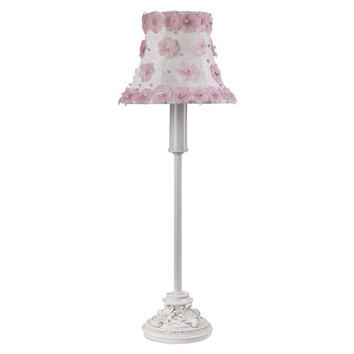 Jubilee Collection Leaf Scroll Table Lamp with Petal Flower Shade