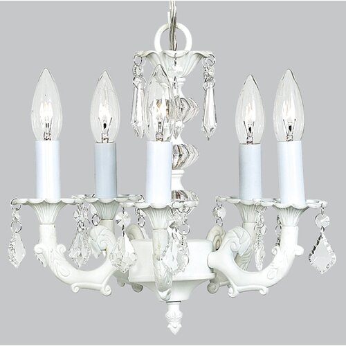 Jubilee Collection Stacked Glass Ball 5 Light Chandelier