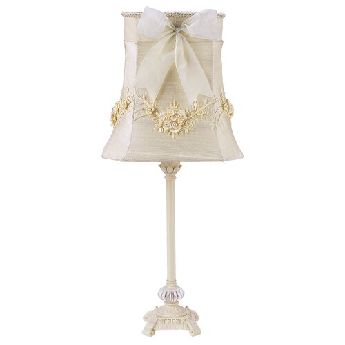 "Jubilee Collection Scroll Glass Ball 23.5"" H Table Lamp with Empire Shade"