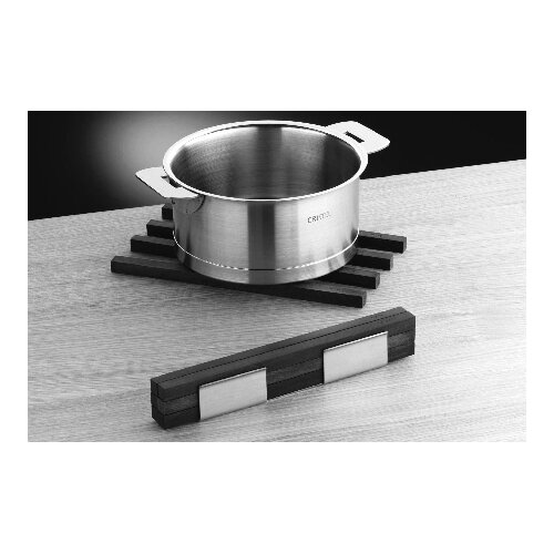 mono Mono 6 piece Wood Trivet Sticks with Stainless Steel Stand