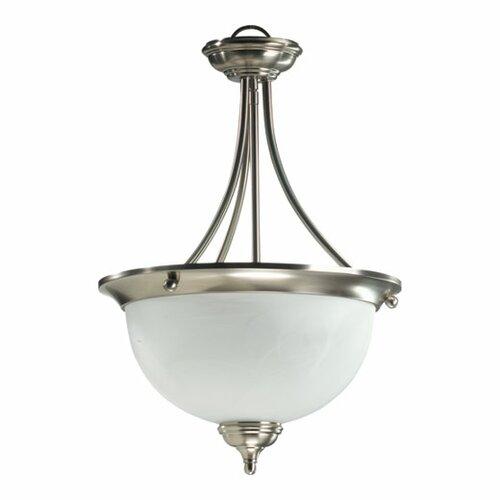 Ashton 3 Light Bowl Inverted Pendant