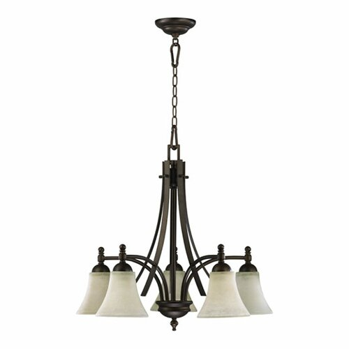 Quorum Aspen 5 Light Nook Chandelier