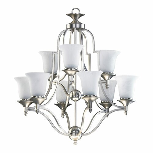 Coventry 9 Light Chandelier in Satin Nickel