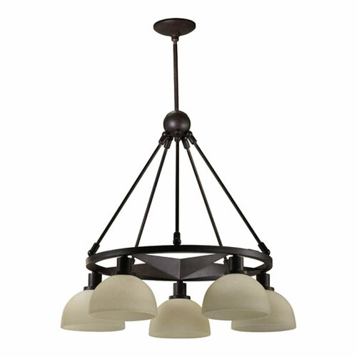 Quorum Lone Star 5 Light Nook Chandelier