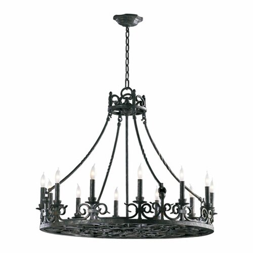 Quorum Lorenco 12 Light Chandelier