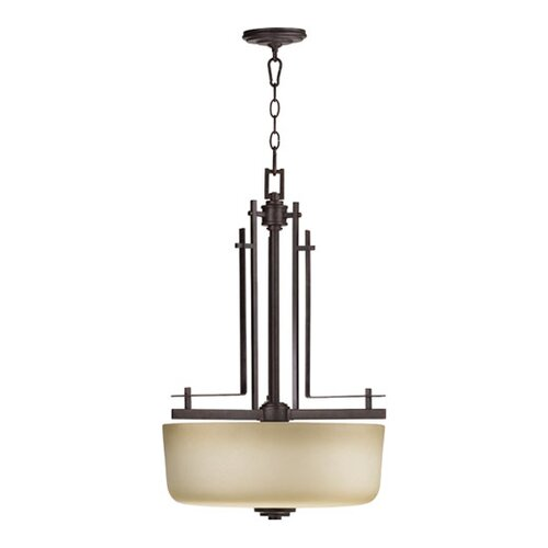 Prairie 3 Light Entry Inverted Pendant