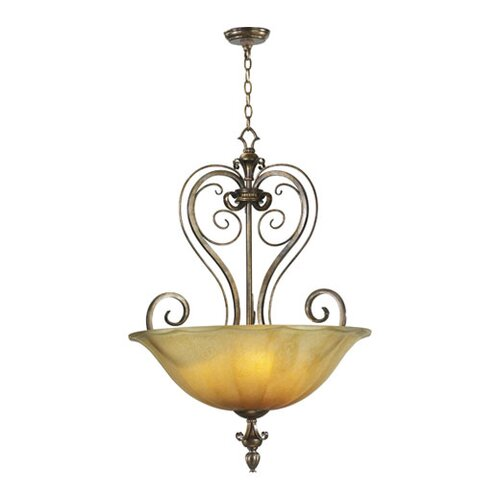 Quorum Virage 3 Light Inverted Pendant