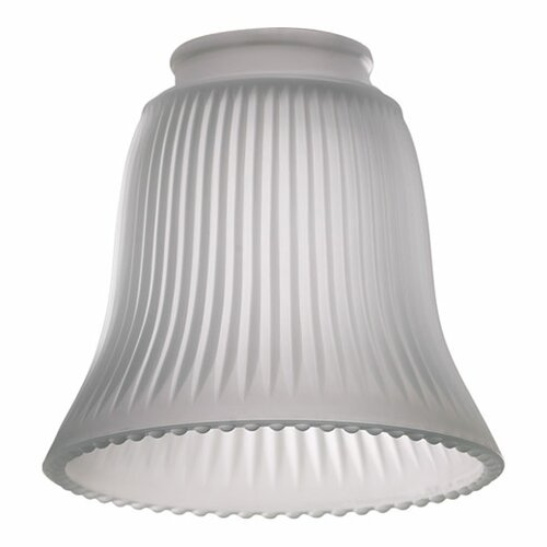Quorum Frost Ribbed Bell Glass Shade