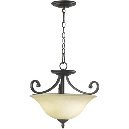 Quorum Bryant 3 Light Dual Mount Inverted Pendant