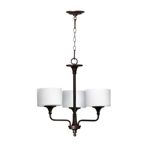 Quorum Rockwood 3 Light Chandelier