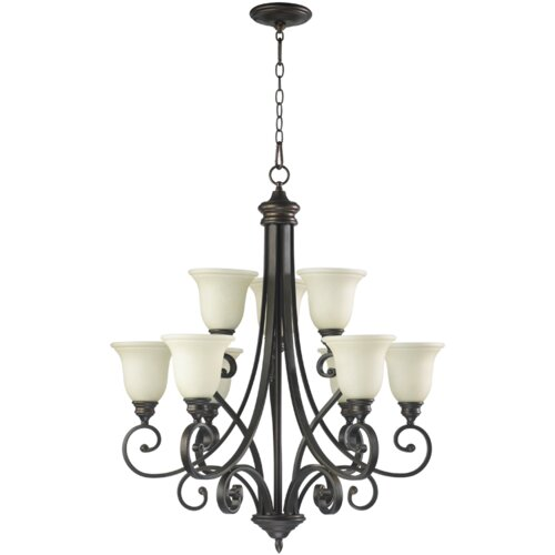 Bryant 9 Light Chandelier with Scavo Glass Shade