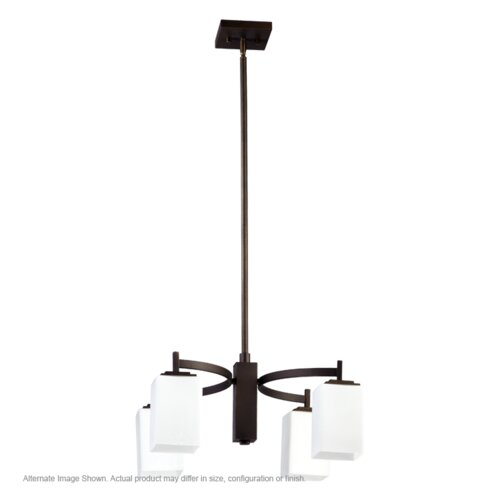 Quorum Delta 4 Light Nook Chandelier