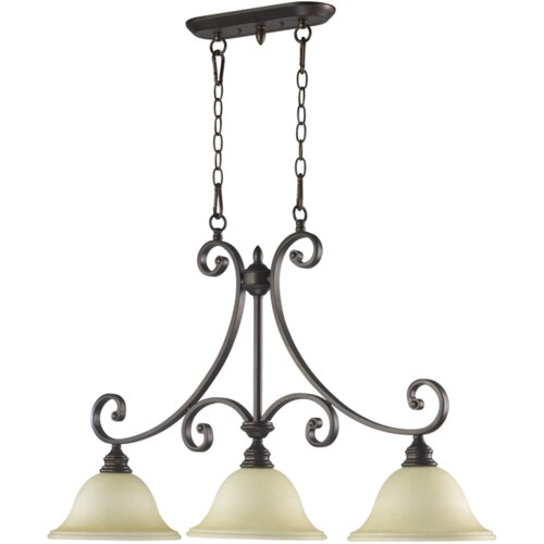 Quorum Bryant 3 Light Kitchen Island Pendant