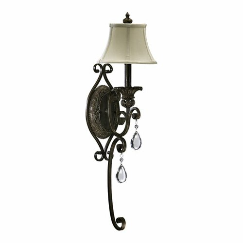 Quorum Fulton 1 Light Wall Sconce with Shade
