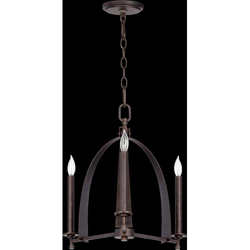 Quorum Gateway 3 Light Chandelier
