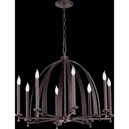 Quorum Gateway 8 Light Chandelier