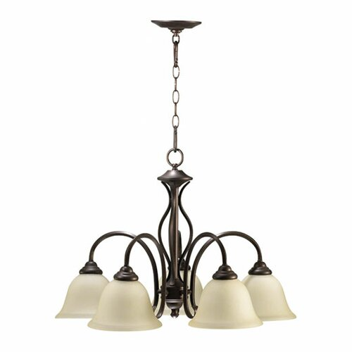 Quorum Spencer 5 Light Nook Chandelier