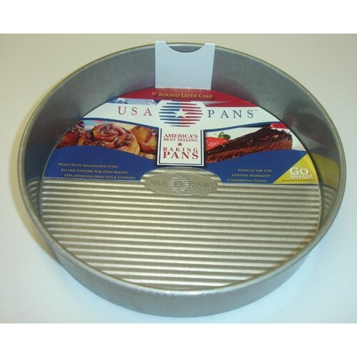 "USA Pans 9"" Round Layer Cake Pan with Americoat"