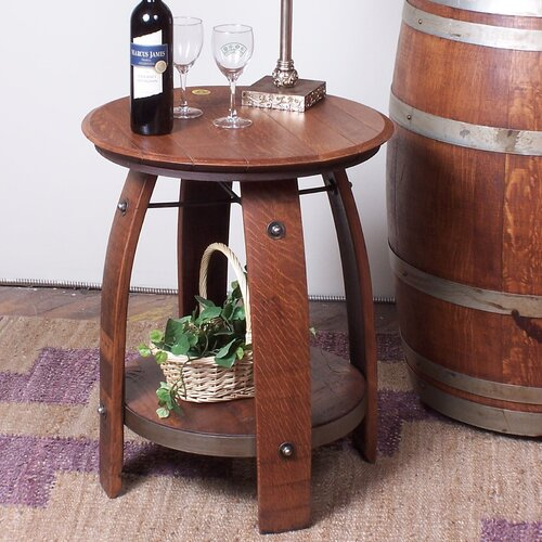 2 Day Designs, Inc Barrel End Table