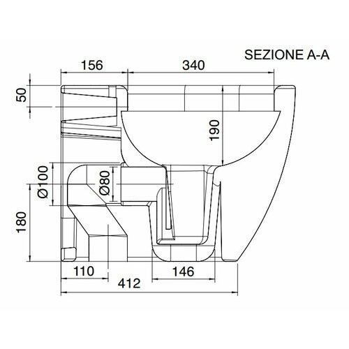 Scarabeo by Nameeks Tizi Floor Mounted Elongated 1 Piece Toilet