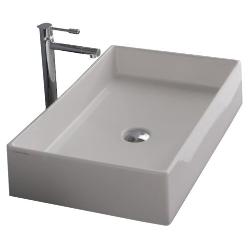 ... Nameeks Teorema Rectangular Vessel Bathroom Sink & Reviews Wayfair