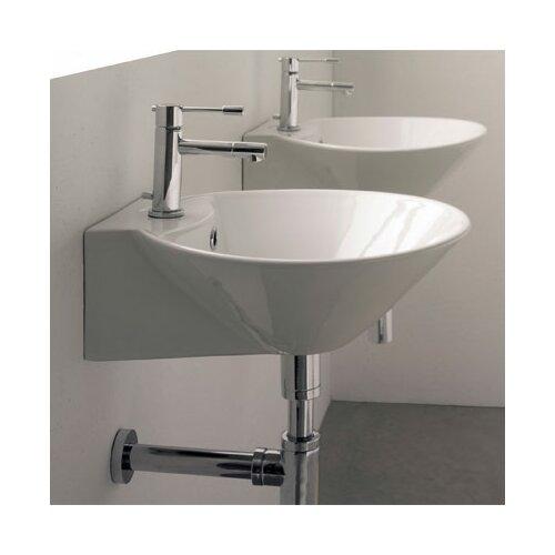 Cono Wall Mounted Bathroom Sink