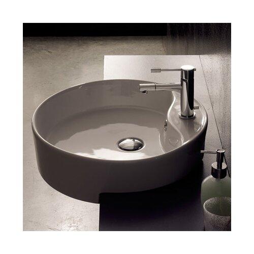 Scarabeo by Nameeks Geo Semi Recessed Single Hole Bathroom Sink