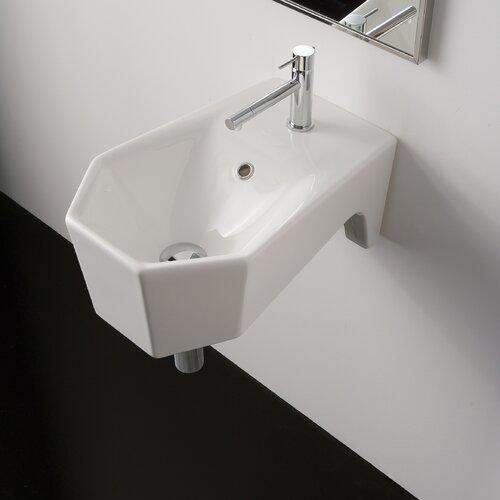 Bijoux Geometric Wall Mount Bathroom Sink