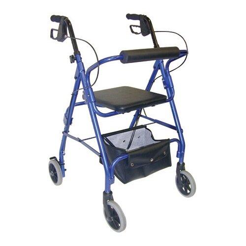 Briggs Healthcare Adjustable Seat Height Rolling Walker