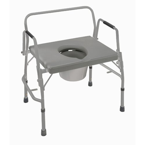 Briggs Healthcare Bariatric Extra-Wide Drop Arm Commode