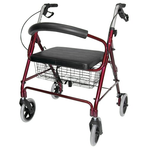 Briggs Healthcare Lightweight Extra-Wide Rolling Walker