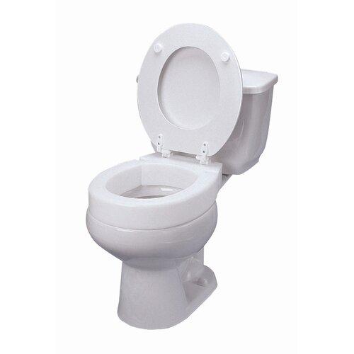 Briggs Healthcare Elongated Hinged Raised Toilet Seat Reviews Wayfair