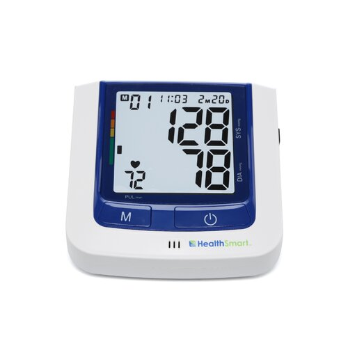 Briggs Healthcare Healthsmart Premium Talking Automatic Digital Blood Pressure Monitor in Blue