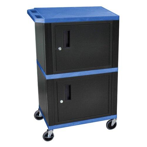 "H. Wilson Company Tuffy 42"" Dual Cabinet Storage Cart"
