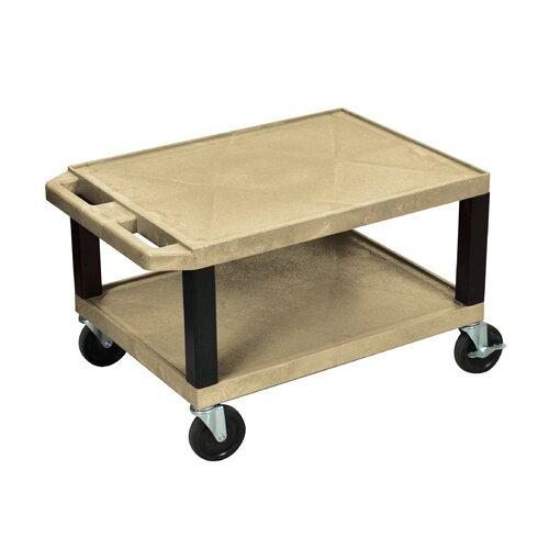 "H. Wilson Company Tuffy 16"" 2 Shelf Utility Cart"